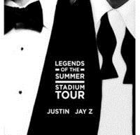 JUSTIN TIMBERLAKE AND JAY Z  - GET YOUR TICKETS NOW!